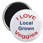 "I Love Local Veggies 2.25"" Magnet (10 pack)"