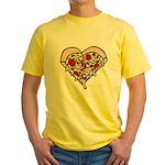 Pizza Heart Yellow T-Shirt