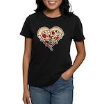 Pizza Heart Women's Dark T-Shirt