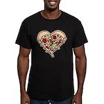 Pizza Heart Men's Fitted T-Shirt (dark)