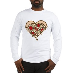 Pizza Heart Long Sleeve T-Shirt