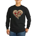 Pizza Heart Long Sleeve Dark T-Shirt