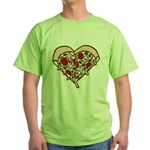 Pizza Heart Green T-Shirt