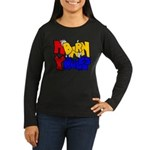 MyBarn Shy Goat Women's Long Sleeve Dark T-Shirt