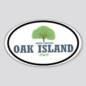 Oak Island NC Oval Sticker