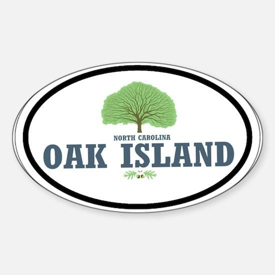 Oak Island NC Oval Decal