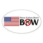 No Bow Oval Sticker