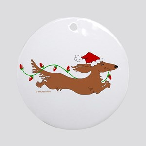 XMAS L RED(05) Round Ornament