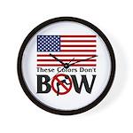 No Bow Wall Clock