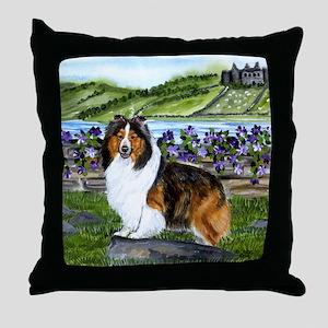 Shetland Sheepdog Sable Throw Pillow