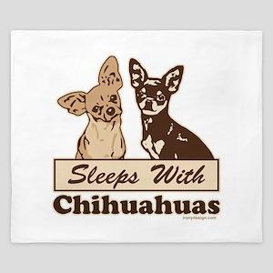 Sleeps With Chihuahuas King Duvet