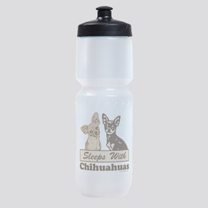 Sleeps With Chihuahuas Sports Bottle