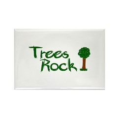 Trees Rock (Earth Day) Rectangle Magnet (10 pack)