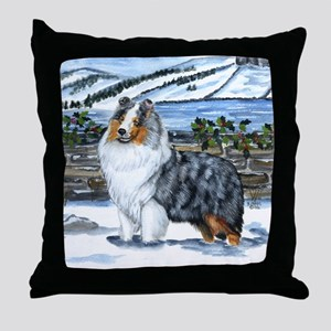 Shetland Sheepdog Blue Merle Throw Pillow