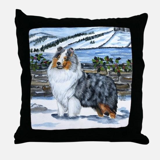 Shetland Sheepdog Blue Merle Throw Pillow