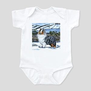 Shetland Sheepdog Blue Merle Infant Bodysuit
