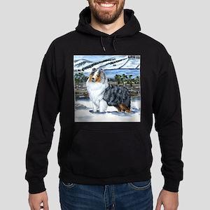 Shetland Sheepdog Blue Merle Hoodie (dark)