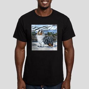 Shetland Sheepdog Blue Merle Men's Fitted T-Shirt