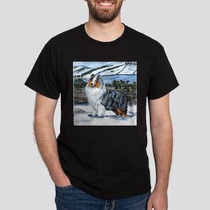 Shetland Sheepdog Blue Merle Dark T-Shirt