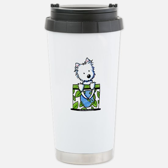 09 Earth Day Westie Stainless Steel Travel Mug