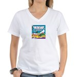 OneBigMob Sci-Fi Comics Women's V-Neck T-Shirt