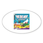 OneBigMob Sci-Fi Comics Oval Sticker (10 pk)