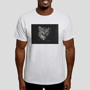 Ocelot in White Light T-Shirt