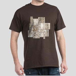 Animal Tracks Collage Dark T-Shirt
