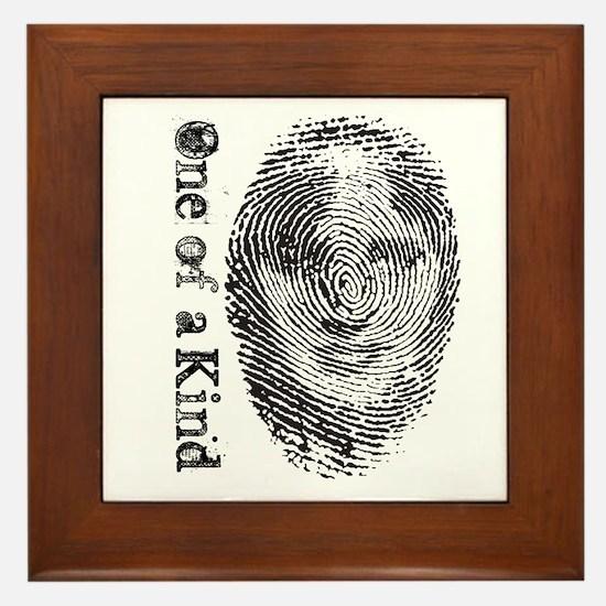Unique Fingerprint Framed Tile