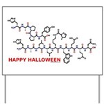Happy Halloween molecule Yard Sign
