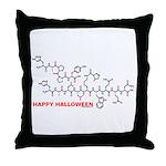 Happy Halloween molecule Throw Pillow