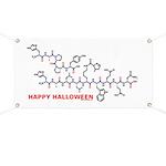 Happy Halloween molecule Banner