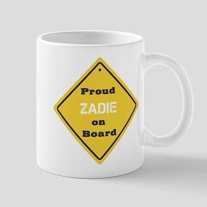 Proud Zadie on Board Mug