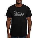 Happy Halloween molecule Men's Fitted T-Shirt (dar