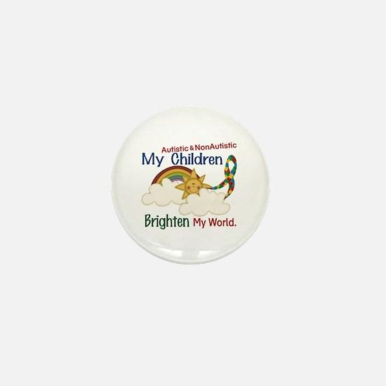 Brighten World 1 (A &Non/A Children) Mini Button