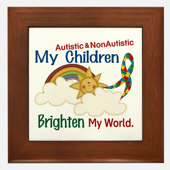 Brighten World 1 (A &Non/A Children) Framed Tile
