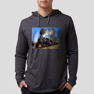 Antique steam engine train Long Sleeve T-Shirt
