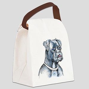 Blue Dog Canvas Lunch Bag