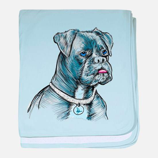 Blue Dog baby blanket