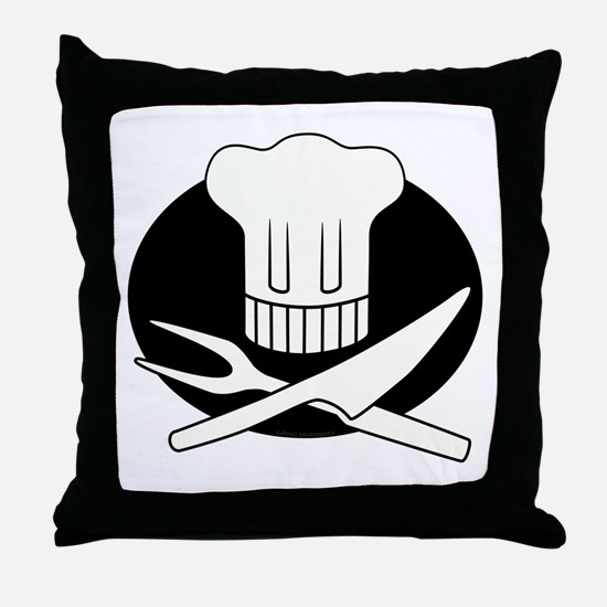Pirate Chef Throw Pillow