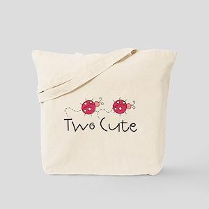 Two Cute Ladybugs Tote Bag