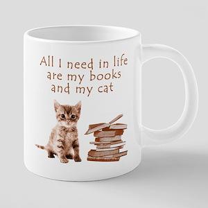 Cats and books Mugs