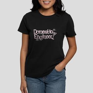 Domestic Engineer Pink Women's Dark T-Shirt
