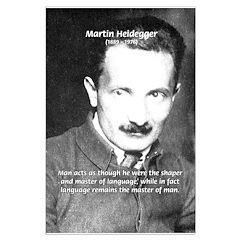 Man / Language: Heidegger Posters