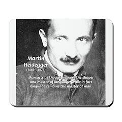 Man / Language: Heidegger Mousepad