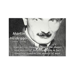 Man / Language: Heidegger Rectangle Magnet