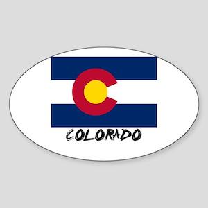 Colorado Flag Oval Sticker