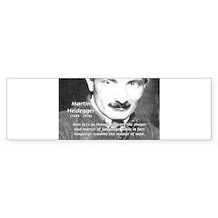 Man / Language: Heidegger Bumper Bumper Sticker