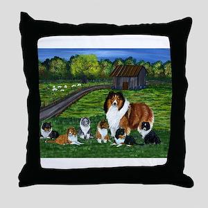 "Shetland Sheepdog ""the babysi Throw Pillow"