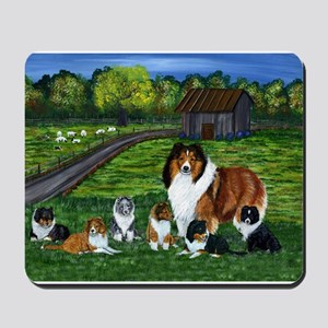 """Shetland Sheepdog """"the babysi Mousepad"""